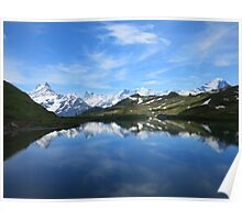 Bachalpsee lake Switzerland Poster