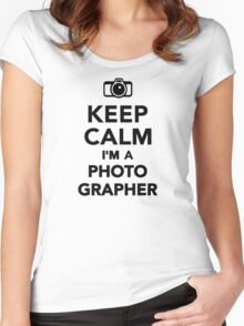 Keep calm I'm a Photographer Women's Fitted Scoop T-Shirt