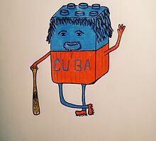 Cube-an baseball player by HenryKerns