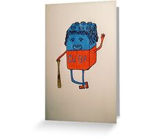 Cube-an baseball player Greeting Card