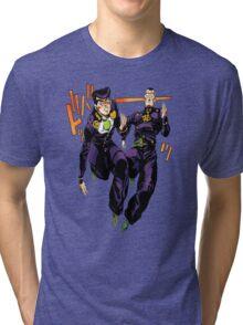 Josuke x Okuyasu - Jojo's Bizarre Adventure Tri-blend T-Shirt