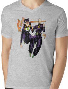 Josuke x Okuyasu - Jojo's Bizarre Adventure Mens V-Neck T-Shirt