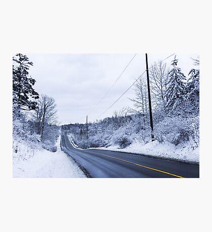 Winter Road 2 Photographic Print