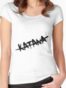 Black Katana Women's Fitted Scoop T-Shirt
