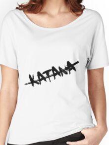 Black Katana Women's Relaxed Fit T-Shirt