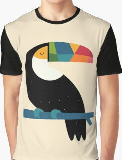 Rainbow Toucan Graphic T-Shirt