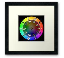 Splatoon color wheel Framed Print
