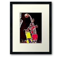Old School NBA - Mike Framed Print