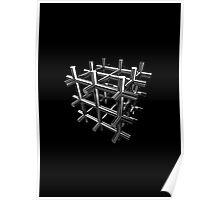 3d Cube design Poster