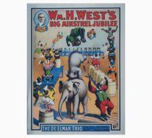 Performing Arts Posters Wm H Wests Big Minstrel Jubilee formerly of Primrose West 2928 Kids Tee