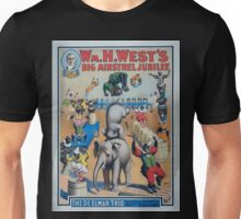 Performing Arts Posters Wm H Wests Big Minstrel Jubilee formerly of Primrose West 2928 Unisex T-Shirt