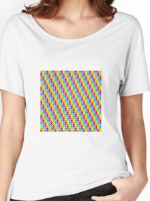 Rainbow Dots Women's Relaxed Fit T-Shirt