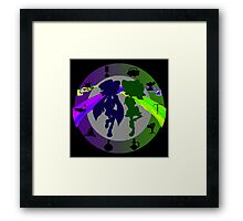 Squid Sisters Subs B and W Version 2 Framed Print