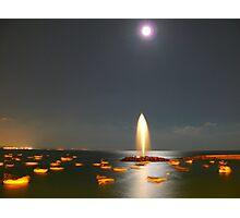 Moonlight Fountain Photographic Print