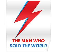 """David Bowie """"The Man Who Sold the World"""" original design Poster"""