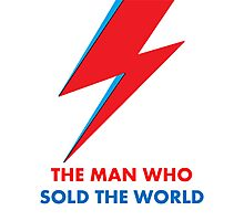 """David Bowie """"The Man Who Sold the World"""" original design Photographic Print"""