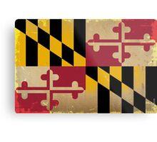 Maryland State Flag VINTAGE Metal Print