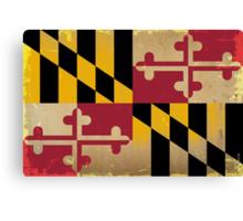 Maryland State Flag VINTAGE Canvas Print