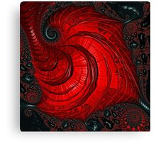 Red And Black - Fractal Art - Square  Canvas Print