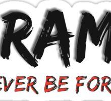 Harmabe Will Never Be Forgotten Sticker