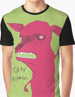 Bad Explanation Art Dog Graphic T-Shirt