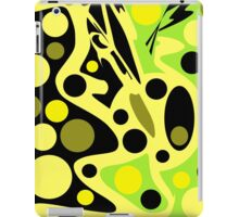 Green abstract decor iPad Case/Skin