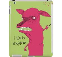 Bad Explanation Art Dog iPad Case/Skin