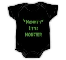 Funny Mommy's Little Monster - Goth Baby Clothing One Piece - Short Sleeve