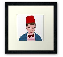 Stranger Things Eleven 11th Doctor Framed Print