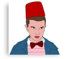 Stranger Things Eleven 11th Doctor Canvas Print