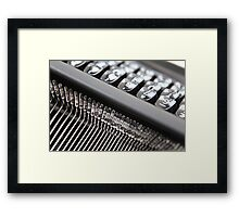 Typewriter .. Framed Print