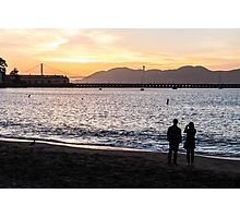 Lovers At Sunset Photographic Print