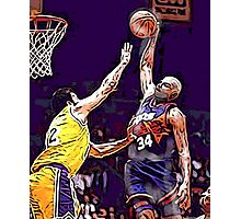 Old School NBA - Charles Photographic Print