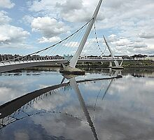 Peace Bridge Reflections............................Derry/Londonderry by Fara