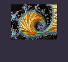 Blue and Gold - Fractal Art Unisex T-Shirt