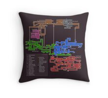 Super Metroid Map Throw Pillow