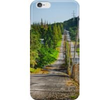 Country Road With Morning Light iPhone Case/Skin