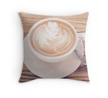Un Cappuccino Per Favore Throw Pillow