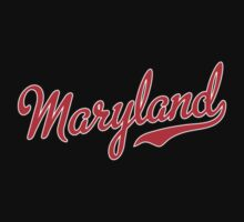Maryland Script Red by USAswagg