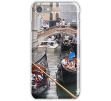 Venice: rush hour in the canal iPhone Case/Skin