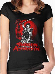 LONEWOLF AND CUB AKA SHOGUN ASSASSIN SHINTARO KATSU JAPANESE RETRO SAMURAI MOVIE  Women's Fitted Scoop T-Shirt