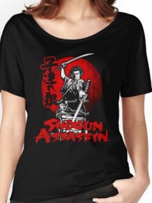 LONEWOLF AND CUB AKA SHOGUN ASSASSIN SHINTARO KATSU JAPANESE RETRO SAMURAI MOVIE  Women's Relaxed Fit T-Shirt