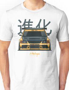 Lancer Evo IX (yellow) Unisex T-Shirt