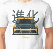 Lancer Evo IX (yellow) Unisex T-Shirt
