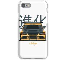 Lancer Evo IX (yellow) iPhone Case/Skin