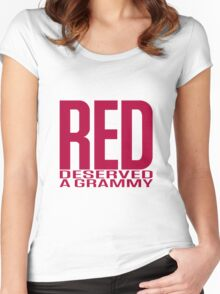Red Deserved a Grammy Women's Fitted Scoop T-Shirt