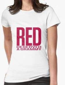 Red Deserved a Grammy Womens Fitted T-Shirt