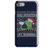 I Heard You Like Ugly Sweaters iPhone Case/Skin