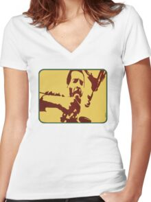 Richie Havens at Woodstock Women's Fitted V-Neck T-Shirt