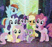 My Little Pony - Photograph Mosaic by Evil-Dragon